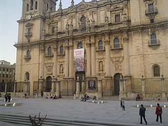 Jaén Cathedral - The Santa María Square in Jaén.