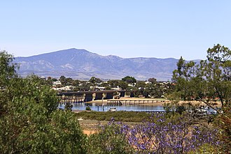 Port Augusta - View across Spencer Gulf to Mount Brown