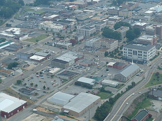 Jackson, Tennessee - Aerial view of Jackson