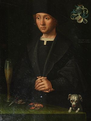 "Jacob van Utrecht - Painting ""Member of the Alardes family"", by Jacob Claesz van Utrecht. National Museum, Stockholm."
