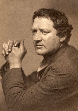 Dolores (artists' model) - Jacob Epstein in 1916.