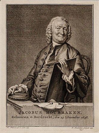Jacobus Houbraken - Jacobus Houbraken, self-portrait 1770