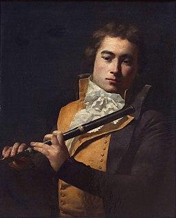 Jacques-Louis David - Portait du flûtiste François Devienne
