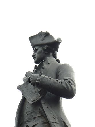 Australian Aboriginal mythology - Statue of Captain James Cook at Admiralty Arch, London