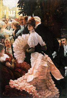 Wikipedia: James Tissots Ölgemälde A Woman of Ambition (1883‒85) zeigt eine junge Frau, deren Interesse, in der Politik mitzureden, im späten 19. Jahrhundert die Gemüter der Männer erregt.