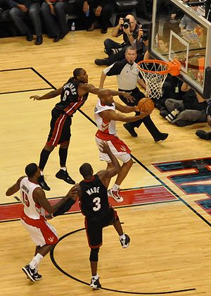 Jarrett Jack - Jack going for a layup in a game between the Toronto Raptors and the Miami Heat