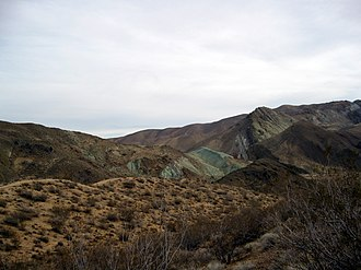 Jawbone Canyon - Jawbone Canyon, with Blue Point visible at center