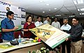 Jayanthi Natarajan releasing the Tiger Awareness Board, at the commemorative review of the Phase-IV of the Monitoring of Tiger Reserves, on the occasion of Wildlife Week, in New Delhi on October 05, 2012.jpg