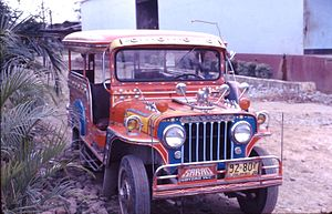 Sarao Motors - A Sarao jeepney in a Philippine street in 1973