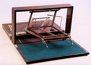Polygraph (duplicating device) duplicating device using pen and ink