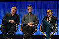 Jeph Loeb, Jeffrey Bell and Clark Gregg at PaleyFest 2014.jpg