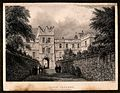 Jesus College, Cambridge; the gatehouse. Line engraving by J Wellcome V0012338EB.jpg