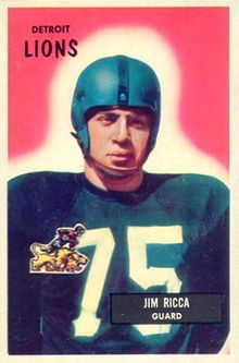 alt=Description de l'image Jim Ricca - 1955 Bowman.jpg.