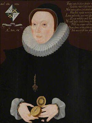 Jocosa Frankland - Portrait of Jocosa Frankland at Brasenose College, artist unknown (1586)