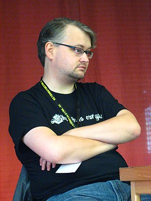 Johan Andersson (game developer) - Andersson at Retro Gathering in 2009