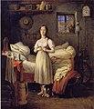 Johann Michael Neder, Morgentoilette eines Mädchens.jpg