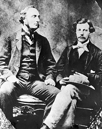 John Palliser - Captain John Palliser (left) and James Hector.