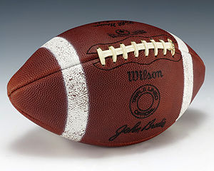 John Brodie - A football signed by Brodie, gifted to President Gerald Ford.