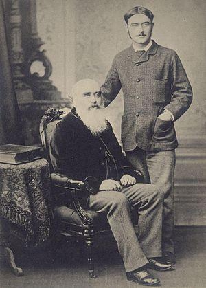 John Lockwood Kipling - John Lockwood Kipling and Rudyard Kipling, c.1890.