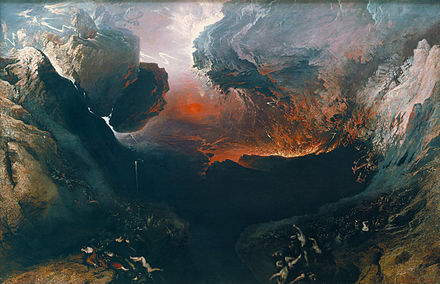 The End of the World, by John Martin. John Martin - The Great Day of His Wrath - Google Art Project.jpg