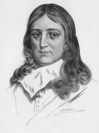 John Milton. His religious epic poem Paradise Lost was published in 1667.