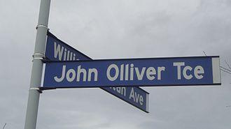 John Ollivier - John Olliver Terrace in Halswell