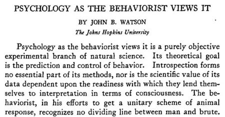 history of behaviorism 2018-5-18 applied history of psychology/learning  behaviorism can be considered a  practical applications of skinner's theories- contributions to and history of.