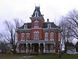 The John Wright Mansion, a historic site in the township