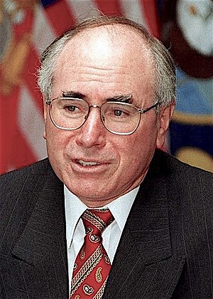 Howard Government - Howard during a visit to the United States in 1997