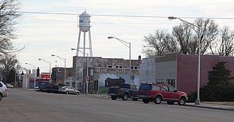 Johnson City, Kansas - Downtown Main Street (facing south) (2010)