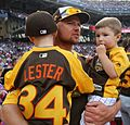 Jon Lester and his boys watch the 2016 T-Mobile -HRDerby (27957925714).jpg