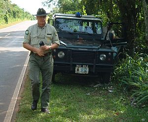 Park ranger - Jorge Cieslik, a park ranger in the Iguazú National Park in Argentina, in the border with Brazil and Paraguay