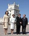 Jorge Sampaio, Lula da Silva e esposas.jpg