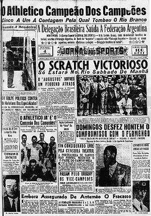 """1937 Copa dos Campeões Estaduais - """"Atlético Champion of champions.""""Jornal dos Sports 3 February 1937."""
