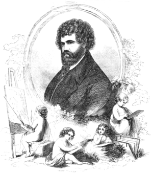 Joseph Alexander Ames - Portrait of Joseph Alexander Ames in 1859, engraved by Samuel Smith Kilburn from a photograph