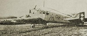 Wrzeszcz - A Junkers F13 with Free City of Danzig markings