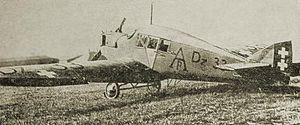 Gdańsk Lech Wałęsa Airport - An airpost Junkers F.13 in 1921 in Gdańsk-Wrzeszcz