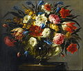Juan de Arellano ( 1614-1676), Still Life with oses, Tiger Tulips, White and Blue Aquilegia 1670.jpg
