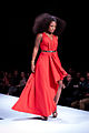 Jully Black wearing Lauren Bagliore - Heart and Stroke Foundation - The Heart Truth celebrity fashion show - Red Dress - Red Gown - Thursday February 8, 2012 - Creative Commons.jpg