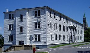 Justice Annex - The Justice Annex. It has since been demolished.