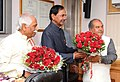 K. Chandrashekar Rao meeting the Union Minister for Mines and Steel, Shri Narendra Singh Tomar and the Minister of State for Labour and Employment (Independent Charge), Shri Bandaru Dattatreya, in New Delhi.jpg