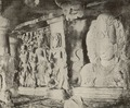 KITLV 88166 - Unknown - Sculptures in the Elephanta Temple in a cave in British India - 1897.tif