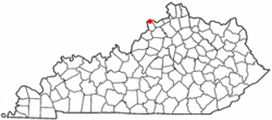 Location of Milton, Kentucky