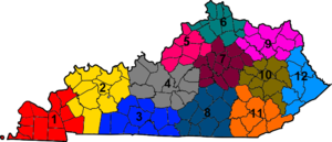 Kentucky Transportation Cabinet - Map of KYTC districts