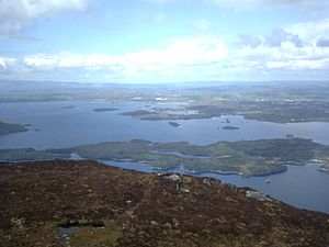 Lakes of Killarney - The Lakes of Killarney from nearby Torc Mountain