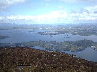Lakes of Killarney - The Lakes of Killarney from nearby Torc Mountain