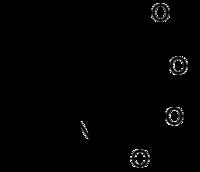 Stereo, skeletformulo de kaina acido