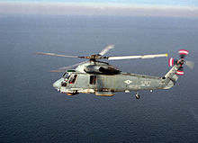 Kaman SH-2F Seasprite of HSL-30 in flight in January 1986.jpg