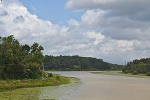 Karamana River - Karamana River near Aruvikkara Dam