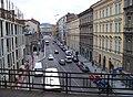 Karlín, Křižíkova ulice z Negrelliho viaduktu k Novému Městu.jpg